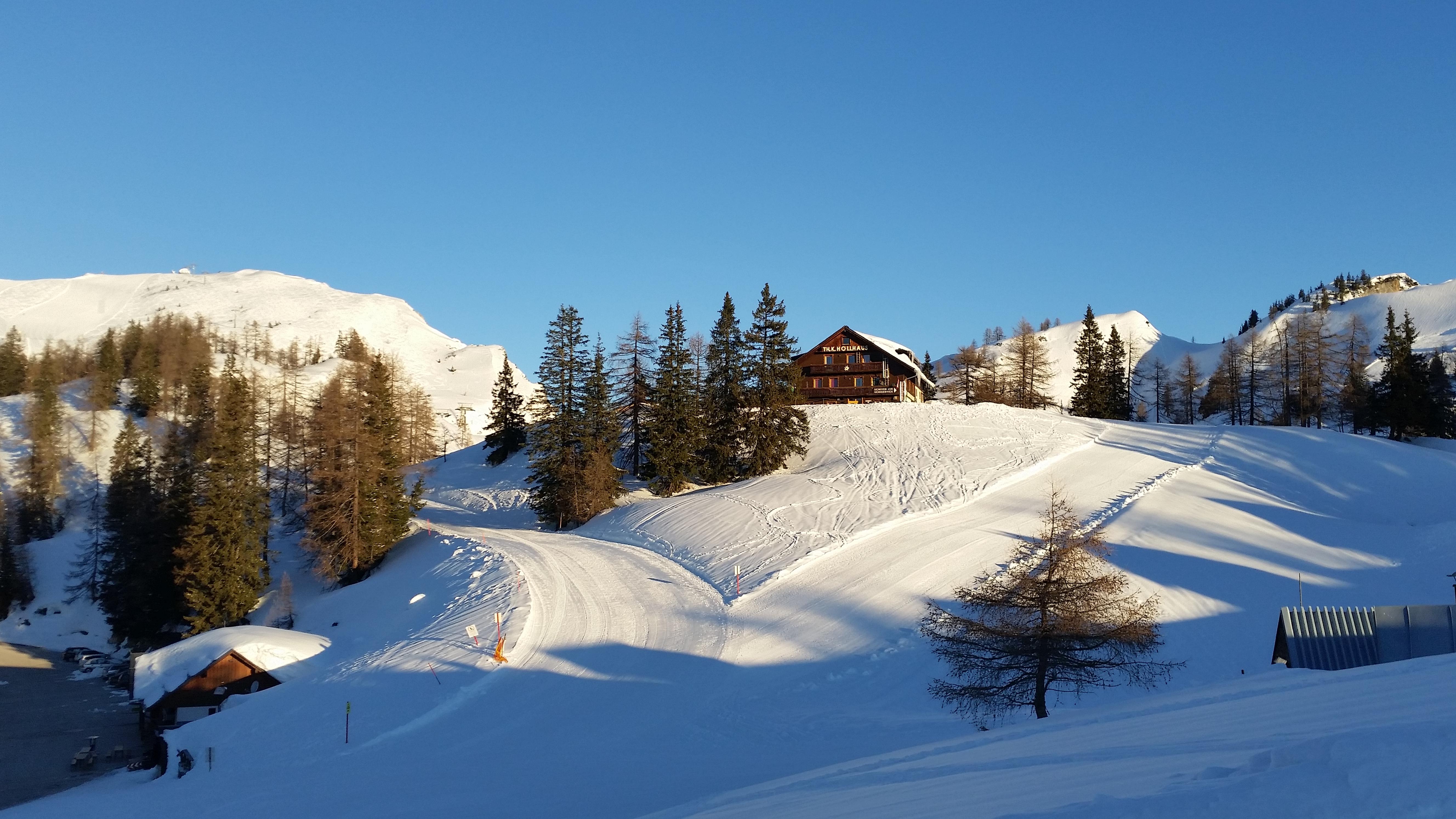 Winter auf der Tauplitz Berggasthof Hollhaus