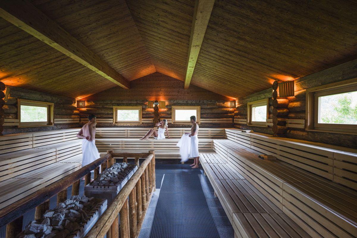Sauna entspannen und aufwärmen
