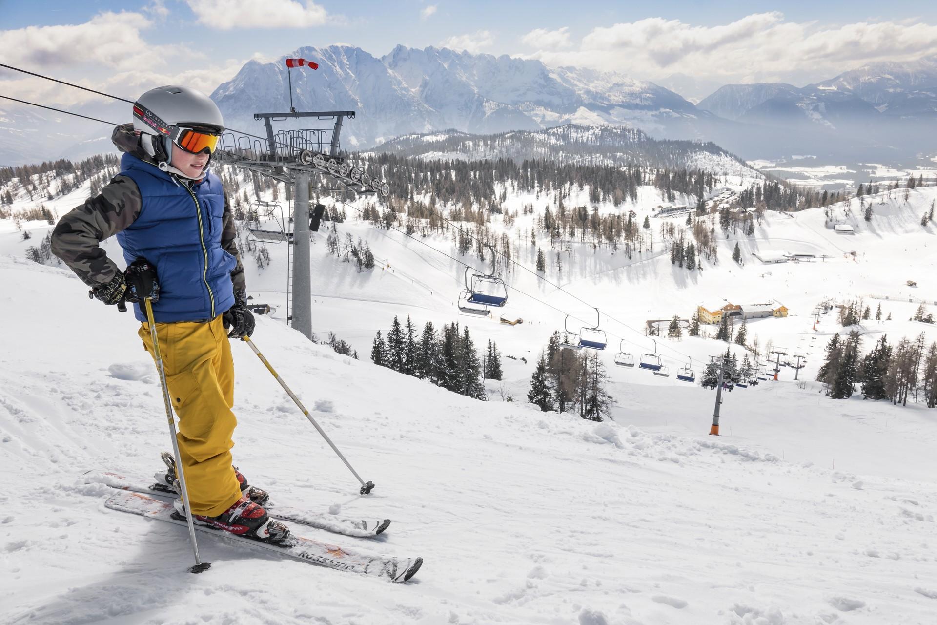 Skifahren auf der Tauplitz Piste