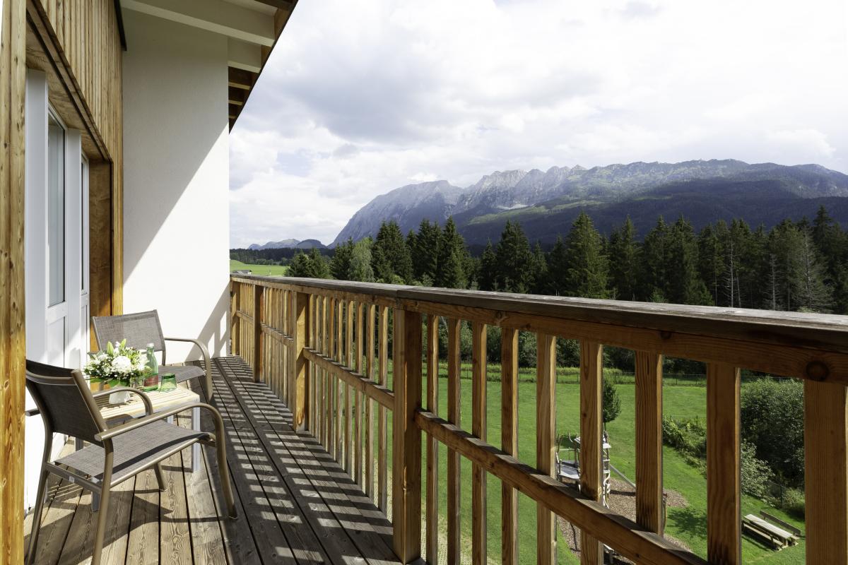 Aldiana Club Salzkammergut Balkon mit Grimmingblick