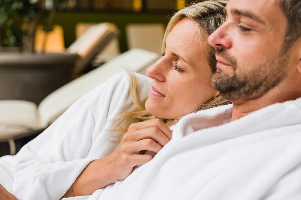 Pssst-Ruheraum Kuschelliegen mit Wohlfühlpaket reserviert