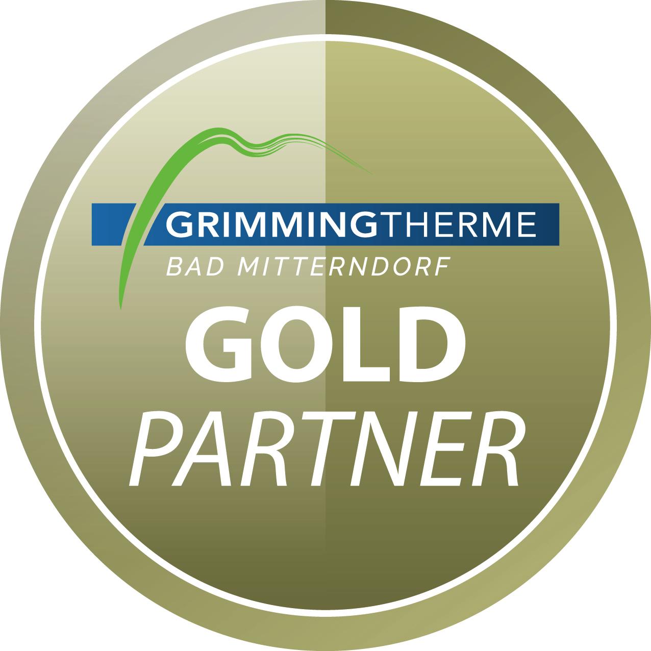 GrimmingTherme Partner Programm Gold Partner Button